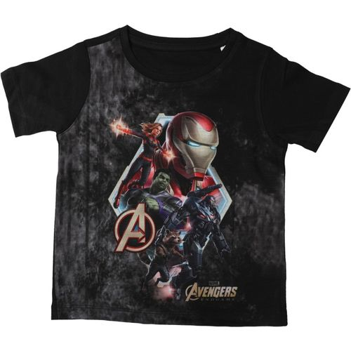 Marvel Avengers Boys Printed Cotton, Polyester T Shirt(Grey, Pack of 1)