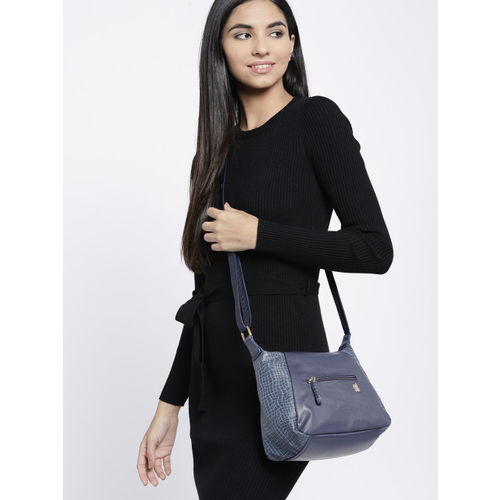 Baggit Navy Blue Solid Sling Bag