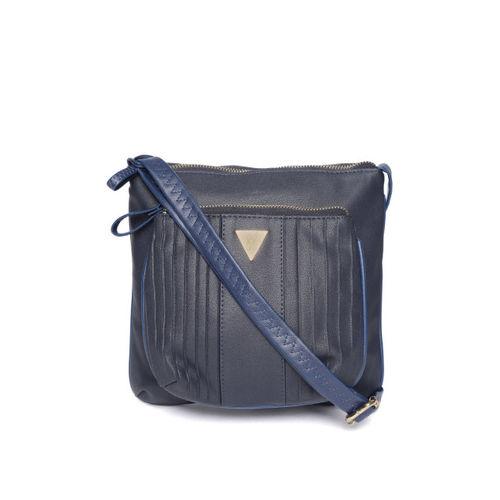 Baggit Navy Blue Solid Sling Bag