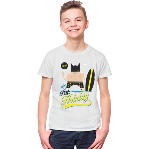 THREADCURRY Boys Graphic Print Cotton T Shirt(White, Pack of 1)