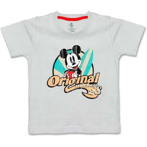 Disney Boys Printed Cotton T Shirt(White, Pack of 1)