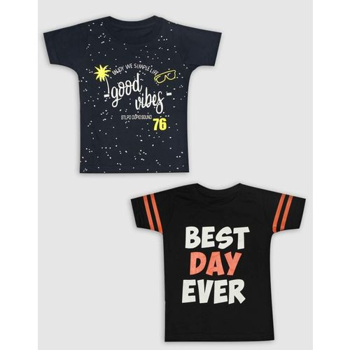 Babeezworld Boy's Printed Cotton T Shirt(Multicolor, Pack of 2)