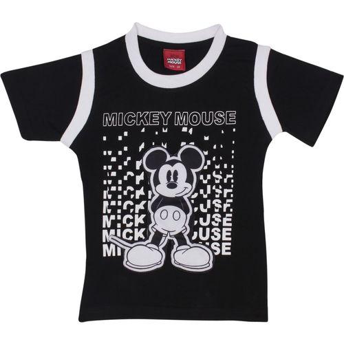 Disney Boys Printed Cotton T Shirt(Black, Pack of 1)