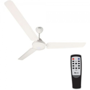 Gorilla Efficio Energy Saving 5 Star Rated, Remote Control and BLDC Motor,1200mm 3 Blade Ceiling Fan(White, Pack of 1)