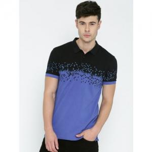 3c1fc0bb SIMILAR PICKS. United Colors of Benetton Men Blue & Black Printed Polo T- shirt