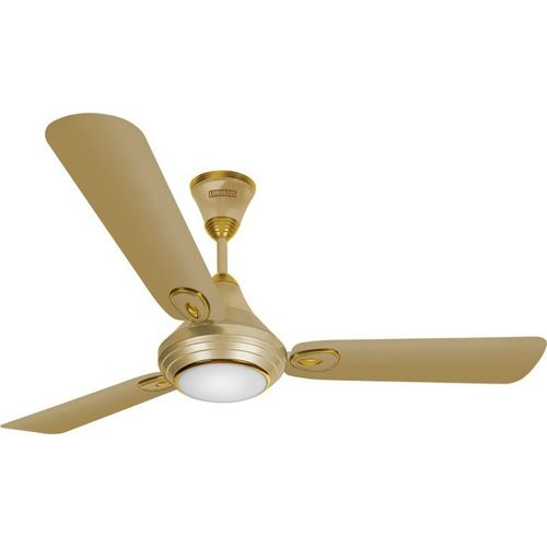 Luminous Lumaire Silky Gold 3 Blade Ceiling Fan(Gold)