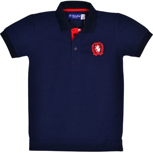 Li'l Tomatoes Boys Solid Cotton T Shirt(Blue, Pack of 1)