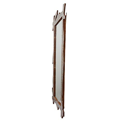 999Store Wooden Hand Crafted Handmade Painted Decorative Wall Mirror Antique Rusted Bathroom Mirror