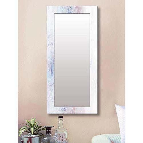 999Store Printed White Marvel Pattern Mirror