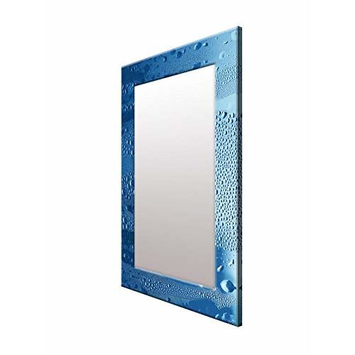 999Store Printed Blue Waterdrop Pattern Mirror