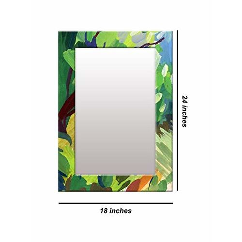 999Store Printed Green Abstract Pattern Mirror