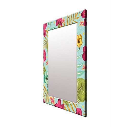 999Store Printed Multi Color Flower Pattern Mirror