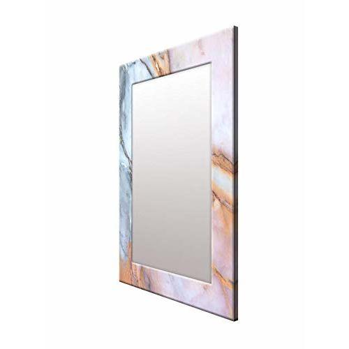 999Store Printed Blue Marvel Pattern Mirror