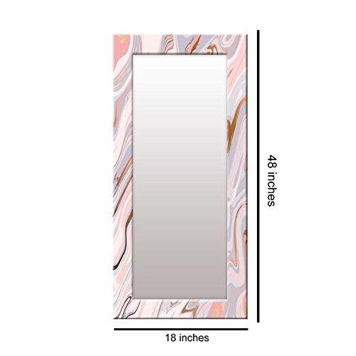 999Store Printed Pink Marvel Pattern Mirror