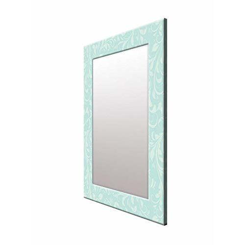 999Store Printed Blue White Flower Pattern Mirror