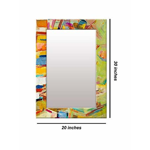 999Store Printed Multi Abstract Pattern Mirror