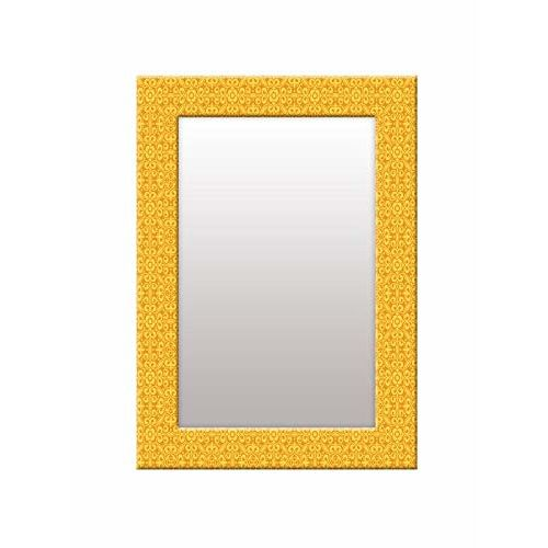 999Store Printed Yellow Pattern Mirror
