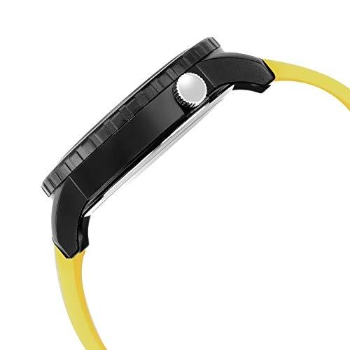 Lamkei Imported Analogue Yellow Silicone Strap Men Watch LMK-00111