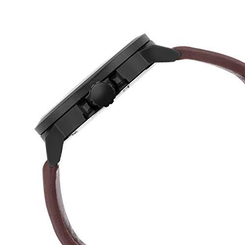 Lamkei Chronograph Brown Leather Strap Men's Watch LMK-0146