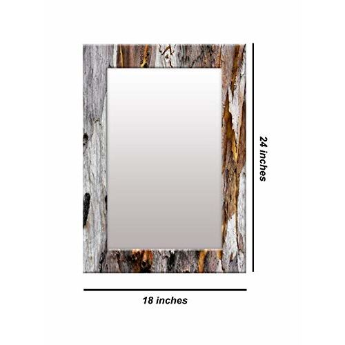 999Store Printed Grey Abstract Pattern Mirror
