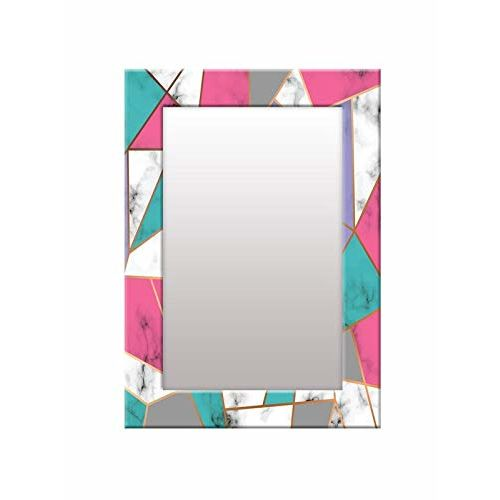 999Store Printed Blue Abstract Pattern Mirror