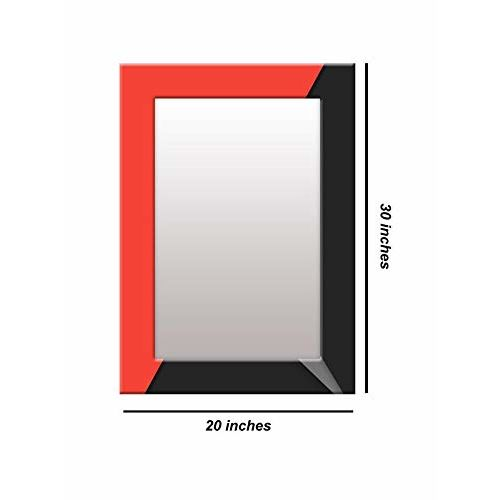 999Store Printed Black and red Pattern Mirror