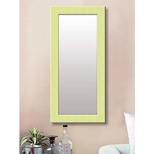 999Store Printed Green line Art Pattern Mirror