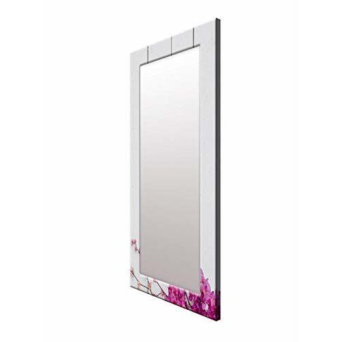 999Store Printed Pink Flowers Pattern Mirror