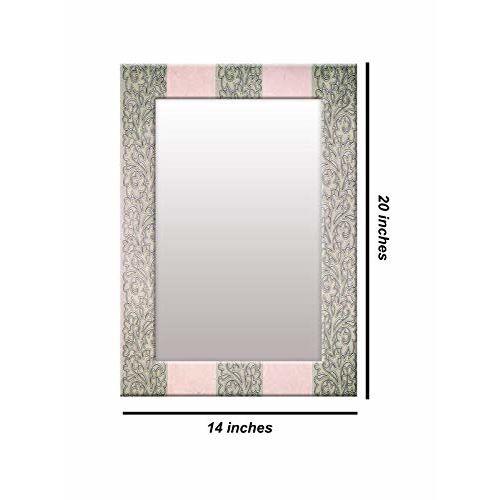 999Store Printed Green Vintage Pattern Mirror