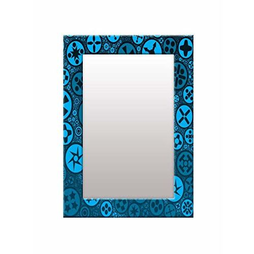 999Store Printed Blue Star Pattern Mirror