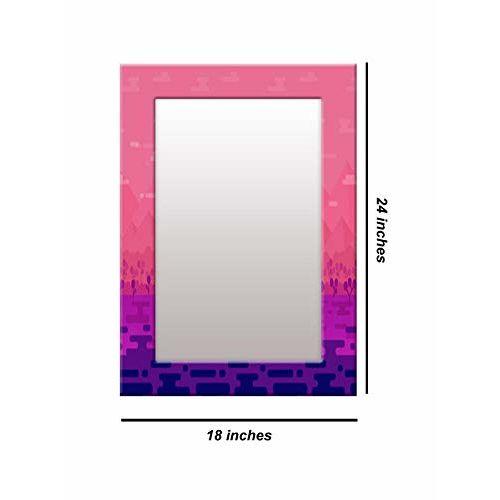 999Store Printed Pink Floral Pattern Mirror