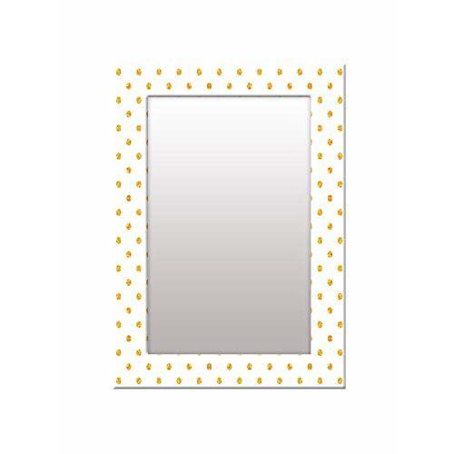 999Store Printed White dot Pattern Mirror