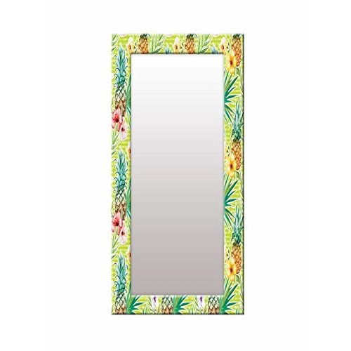 999Store Printed Green Fruit & Flower Pattern Mirror