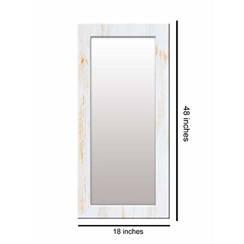 999Store Printed White Marble Pattern Mirror