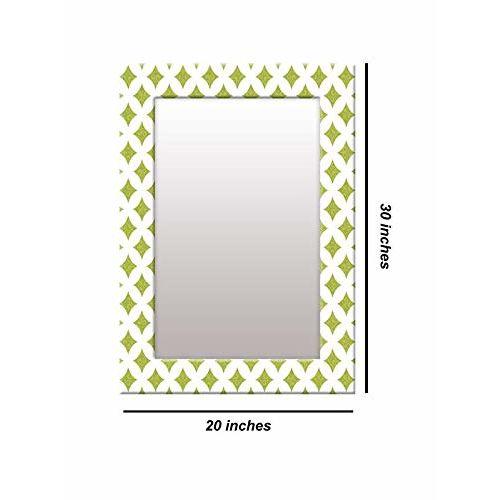 999Store Printed White zid zad Pattern Mirror