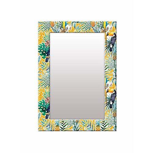 999Store Printed Multi Leaves Pattern Mirror