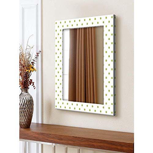 999Store Printed White dot Art Pattern Mirror