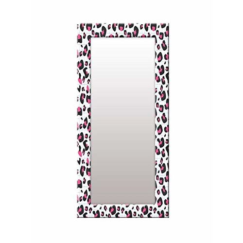 999Store Printed White zid zad Pattern Mirror
