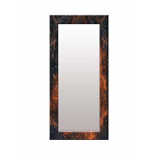 999Store Printed Brown Sky Pattern Mirror