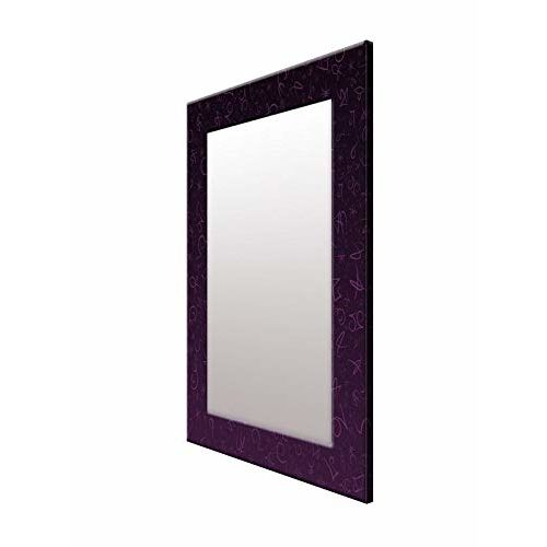 999Store Printed Violet Abstract Pattern Mirror
