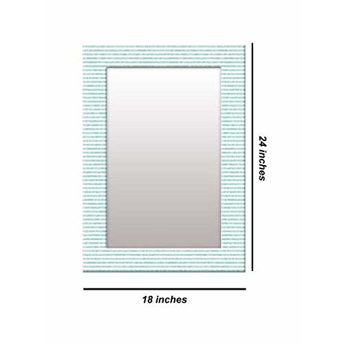 999Store Printed Blue Lining Pattern Mirror
