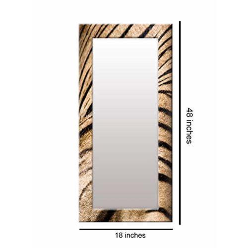 999Store Printed Brown Pattern Mirror