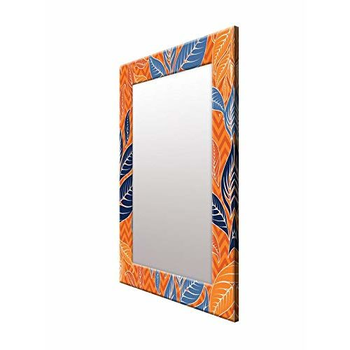 999Store Printed Orange Abstract Pattern Mirror