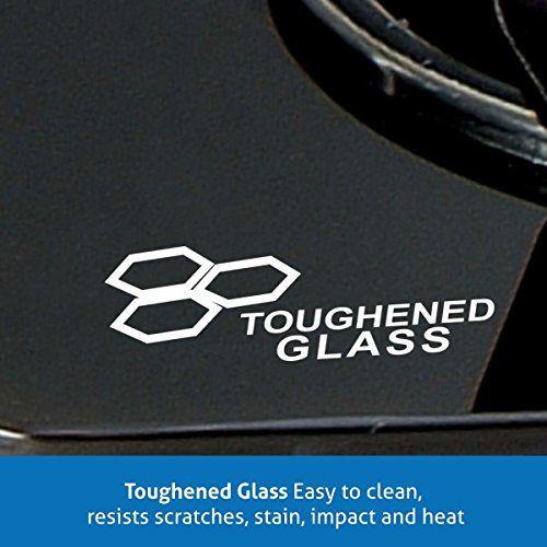 GLEN CT 3 Brass Burner Glass Manual Gas Stove(3 Burners)