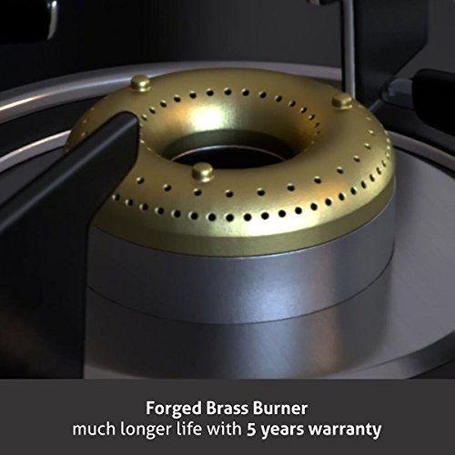 Glen 3 Burner Gas Stove 1038 GT Forged Brass Burners Mirror Finish