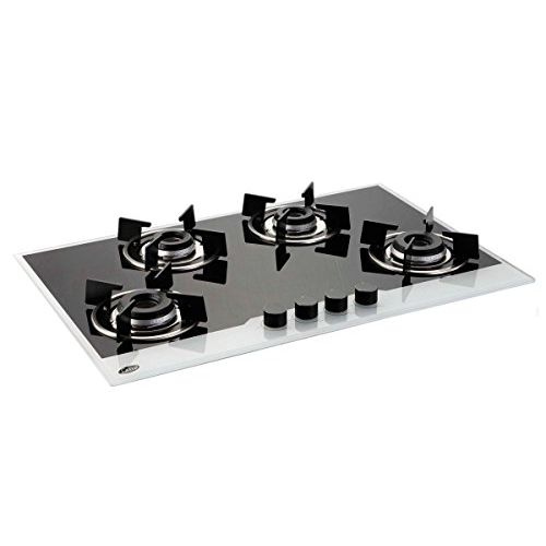 Glen GL 1074 IN BW Built In Hob 4 Burner - Integrated Auto Electric Ignition