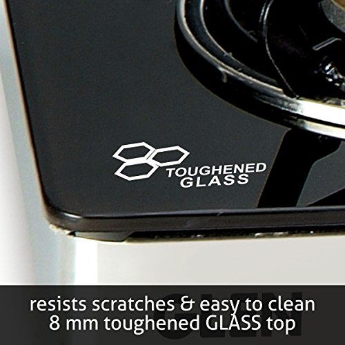 Glen Glass 4 Burner Gas Stove, Black (GLEN10491049)
