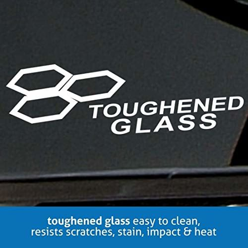 Glen 2 Burner Auto Ignition Built in Glass Hob 1022 SQ HT DB