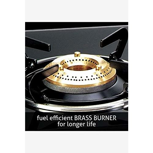 Glen 4 Burner ISI Approved LPG Gas Stove with Toughened Glass with Fuel Efficient 5 Yr Warranty On Brass Burner & 2 Year Glen India Warranty On Product