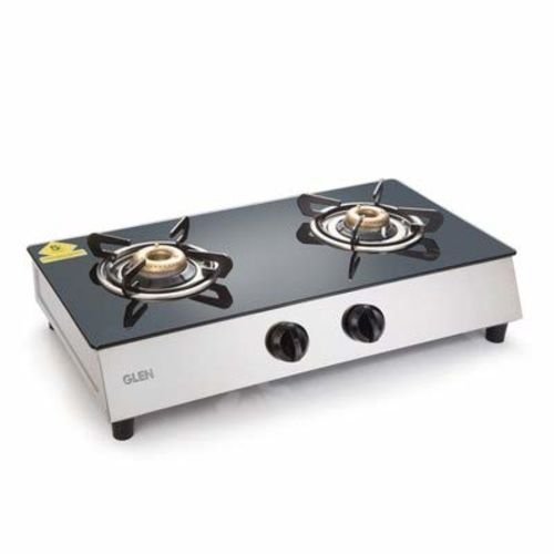Glen 2 Burner Stainless Steel Plus Glass Gas Stove 1023 GT Retro with 5 Year Warranty